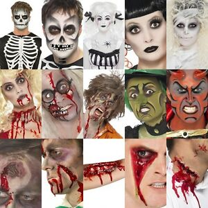 Smiffys-FX-Halloween-Make-Up-Face-Paint-Kit-Zombie-Devil-Witch-Skeleton