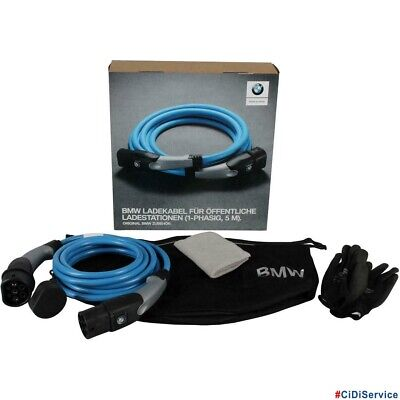 BMW 61905A13024 Set Cable De Cargador Rápida Fase Original Motor Híbrido 5m