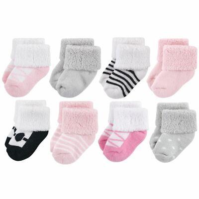 Luvable Friends Girl Baby Socks, 8-Pack, Ballet