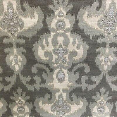 Jacquard Fabric Shade (Ikat shades of gray cream jacquard fabric by the yard pillow upholstery designer )