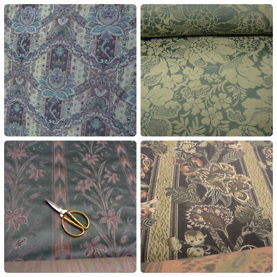 - Chenille Floral Stripe Tapestry Upholstery Fabric Sage Green Plum Beige Mauve