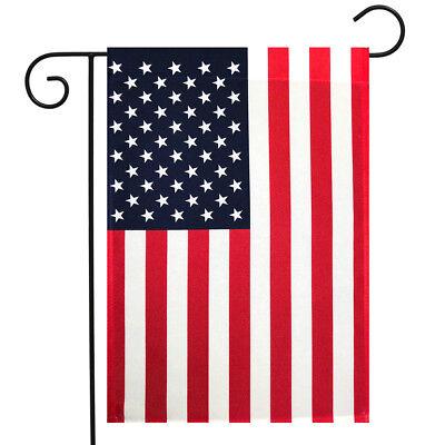 "American Flag Garden Flag USA Stars & Stripes 12.5"" x 18"" Br"