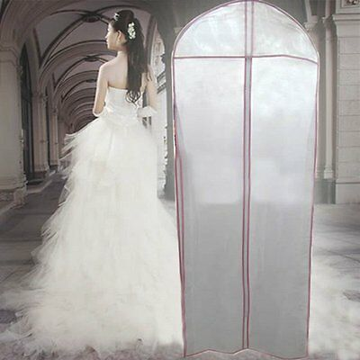 180cm Breathable Bridal Wedding Dress Gown Garment Cover Storage Bag ProtectDT4X