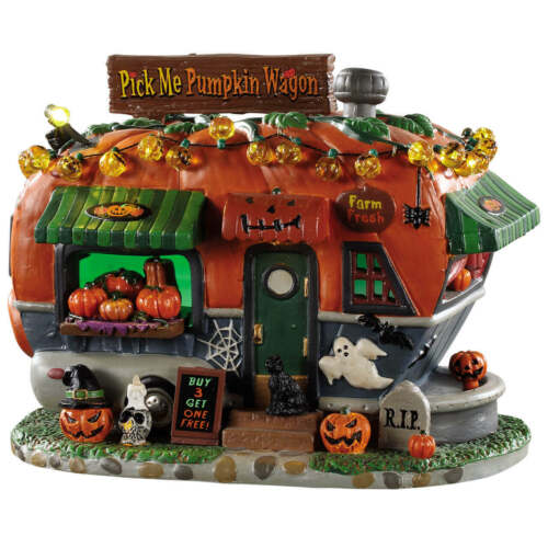 Lemax Spookytown Pick Me Pumpkin Wagon #95444