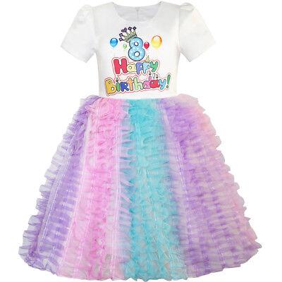 Happy Birthday Tutu (Flower Girl Dress Happy Birthday Princess Party 1st Birthday Tutu Dress Size)