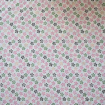 "Eco Wrapping Cloth Wasserdichter Furoshiki ""Aqua-Drop"" 90cm Pflaumenblüte Cream"