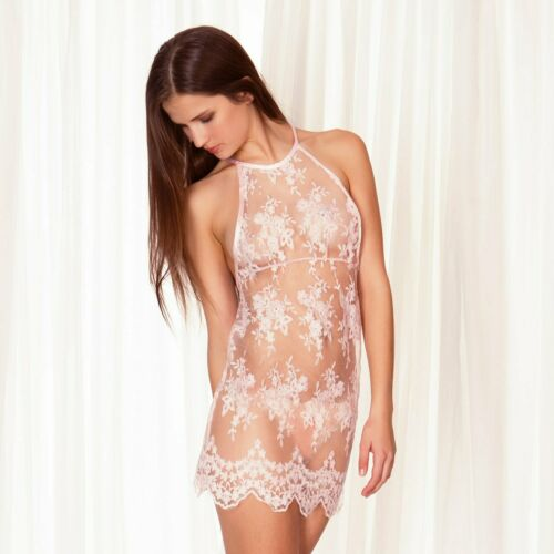 Bluebella Julianna Chemise: XS, S, M, L, XL: $70 NWT: Sheer Pink Lace
