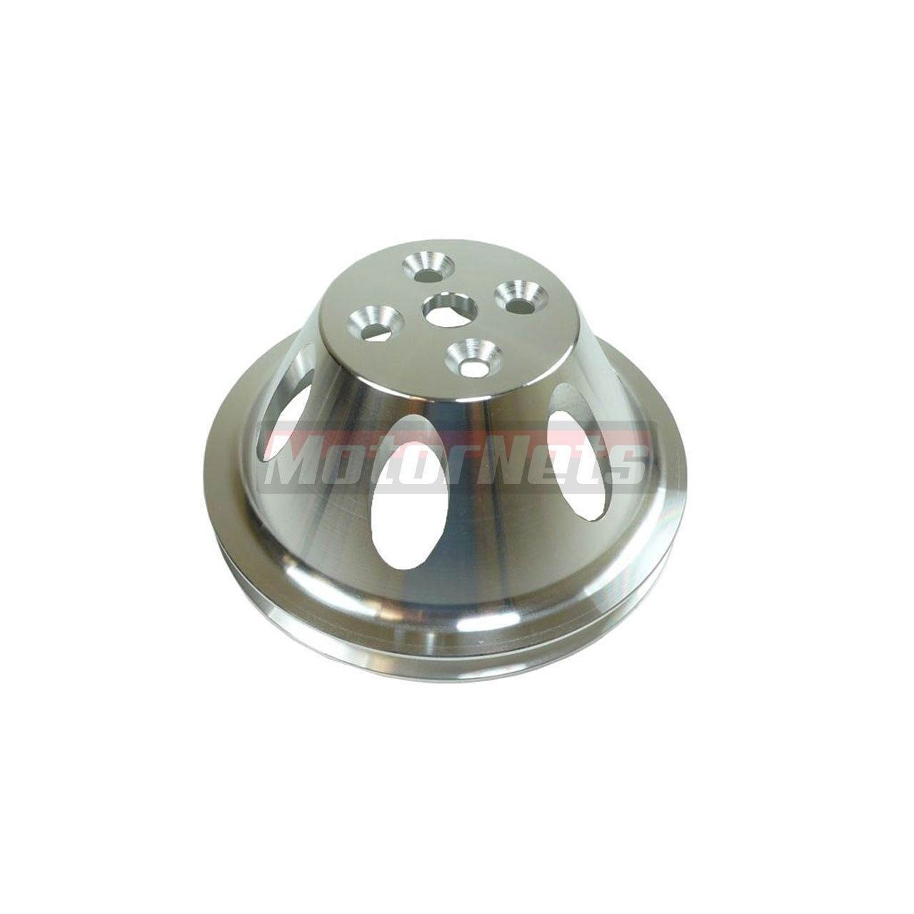 Polished Billet Aluminum BBC Chevy 396-454 Short Water Pump Pulley 1 Groove SWP