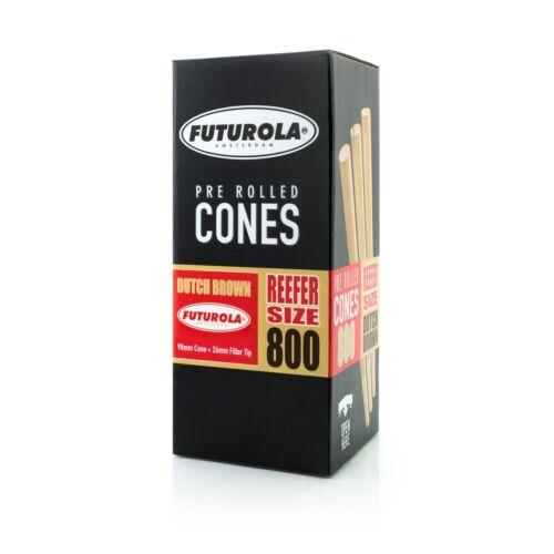 Futurola Pre-Rolled Cones Reefer Size Dutch Brown  - Box of