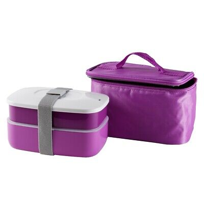 Cilio Lunchbox Brotdose Isoliertasche Brotbox  Vesperbox Transportdose Pink ()