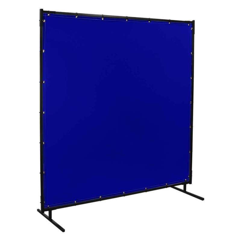 Steiner 525-6X8 Protect-O-Screen with Blue Tint Vinyl FR Weld Screen with Frame