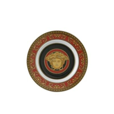 """VERSACE BY ROSENTHAL,GERMANY  """"MEDUSA  RED"""" BREAD & BUTTER PLATE, 7 INCH"""