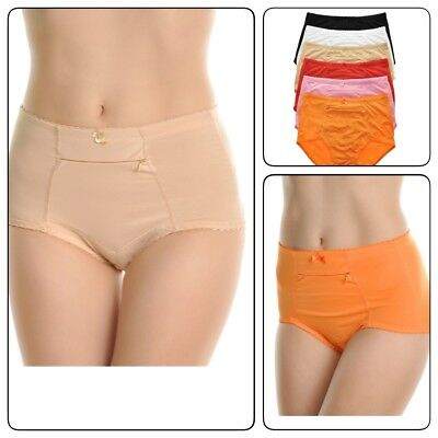 Cotton Solid Pockets Zipper - 6 Pack Women  Underwear  Panties Cotton Classic Girdle with Zipper Pocket S-3XL