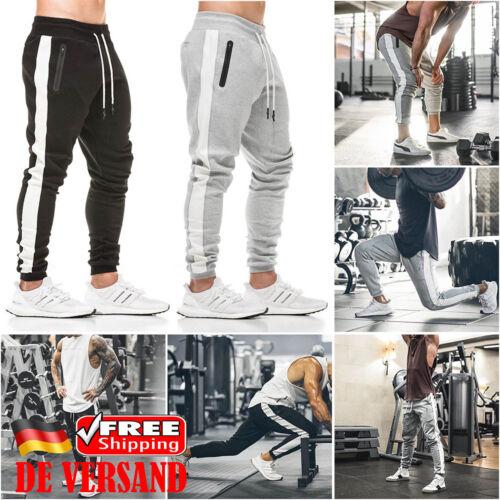 Herren Jogginghose Sporthose Fitness Trainingshose Slim Fit Lange Hose Kordelzug