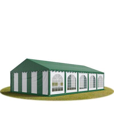 Vereinszelt Festzelt 5x10m Partyzelt Pavillon Bierzelt wasserdicht PVC grün-weiß online kaufen