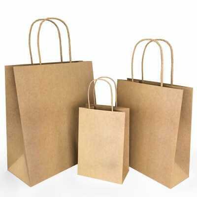 Aamieco Brown Kraft Paper Gift Bags With Handles 75 Pcs 25 Each Size