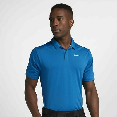 Nike Authentic Mens Breath Dri Fit Golf Polo Shirt Brand New Size Medium