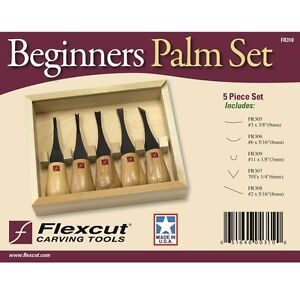 Flexcut Beginners Palm Tool Wood Carving Set FR310 NEW USA Made