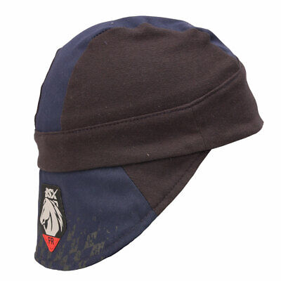 Black Stallion Fr Cotton Welding Cap With Bill Extension Navy Black Medium