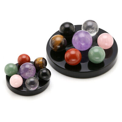 Natural Healing 7 Chakra Ball Stones Fengshui Seven-Star Array Plate Decor Hot