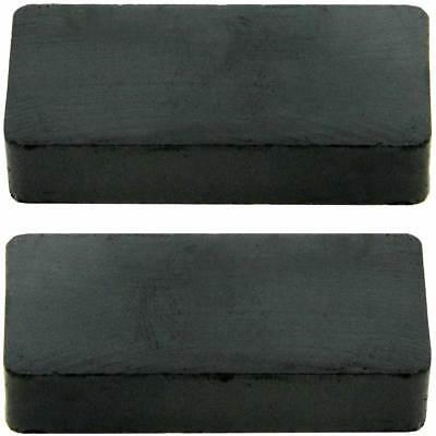 Keramik-block (2 x Extra starke Haltemagnete Keramik Block Magnete Quadermagnet Werkzeughalter)