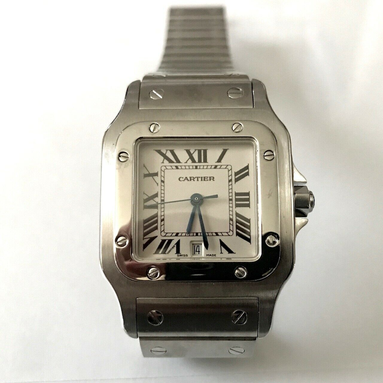 Cartier Men's Santos Stainless Steel Wrist Watch (Pre-Owned)
