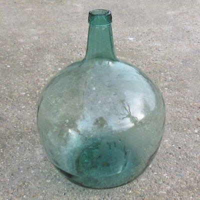 "Old Spanish GreenGlass Demijohn  ""Damajuana"" Wine Bottle, ""Viresa"", 16 Liters, usado segunda mano  Embacar hacia Argentina"