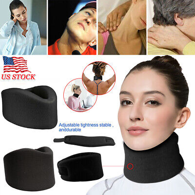 Cervical Therapy Soft Foam Neck Brace Support Device Collar Traction Pain -