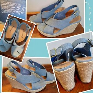 ✨American Eagle size 7-71/2 wedges in a gorgeous blue