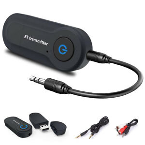USB Bluetooth Stereo Audio Transmitter 3.5mm Music Dongle Adapter for TV PC UK