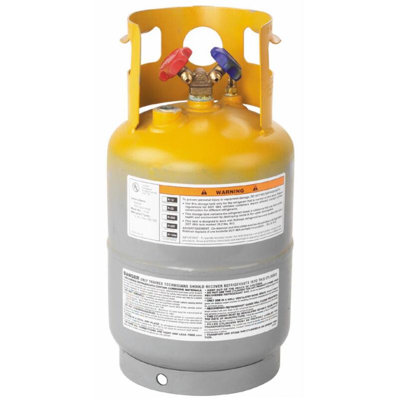 Robinair 17121 30 Pound Refillable Transportable Refrigerant Metal Cooling Tank