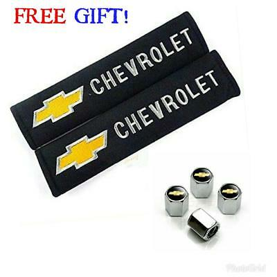 Embroidered Seat (2pcs Chevrolet Plush Embroidered Seat Belt Shoulder Pad Covers/Made In The)