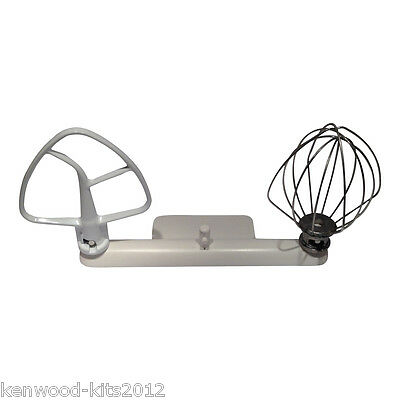Kitchenaid Artisan Wire Whisk K45WW, Flat Beater K45B & A Mixermaid Tool Holder. Flat Wire Whisk