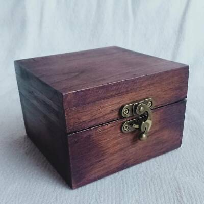 Small coffer box Keepsake box Wooden red decorative jewelry or trinket box with handdrawn pyrography patterns