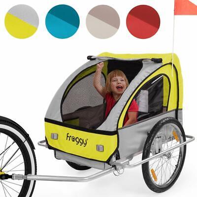 FROGGY Kinderfahrradanhänger Federung Fahrradanhänger Kinder Anhänger