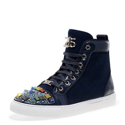 Jump J75 Rascal Crestwood Navy Mens Fashion Casual High Top Shoes