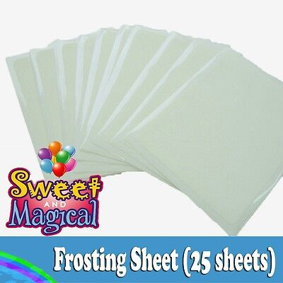 Frosting sheets, Sugar sheets, Icing sheets - 24 To 25 pack - 8.5 X 11