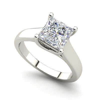 - Certified 2Ct Princess Diamond Wedding Engagement Ring 14k White Gold All Size