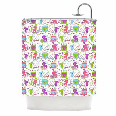 Kess InHouse Julia Grifol My Loving Dogs Shower Curtain, 69 by 70-Inch