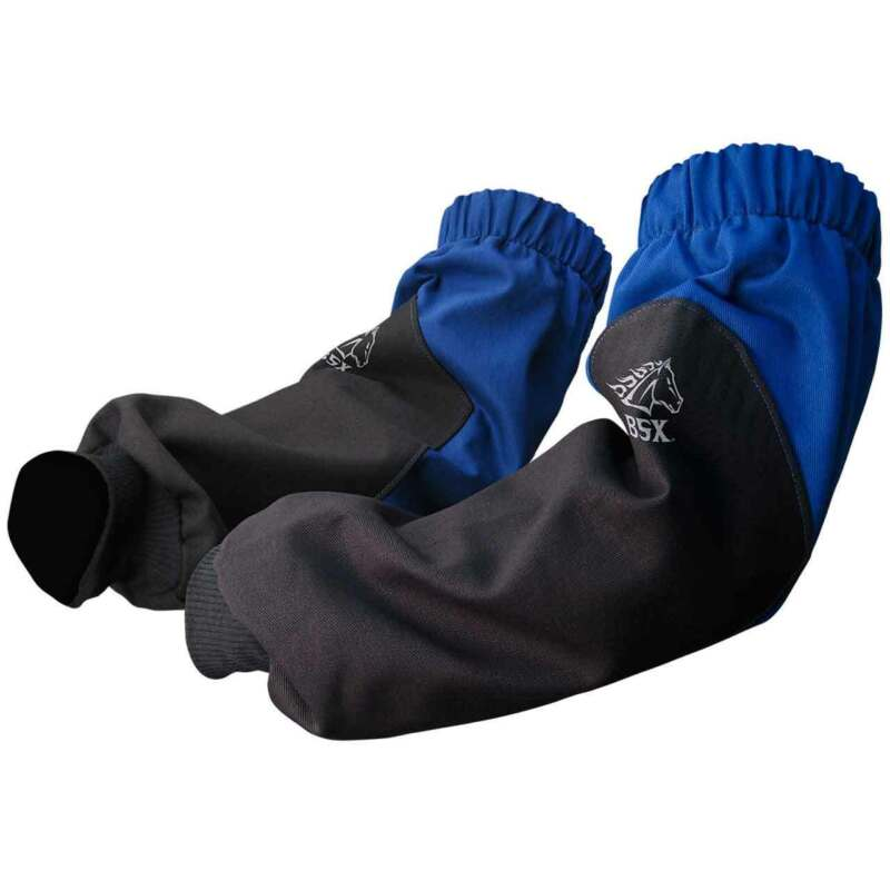 """Black Stallion BSX BX9-19S-RB 9 oz. 19"""" Blue Flame Resistant Welding Sleeves"""