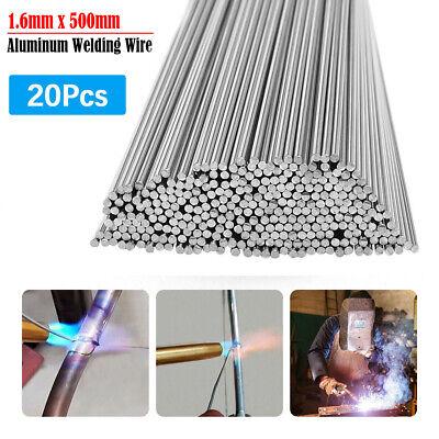 20pcs Easy Melt Welding Rods Low Temperature Aluminum Wire Brazing 1.6mm X 50cm
