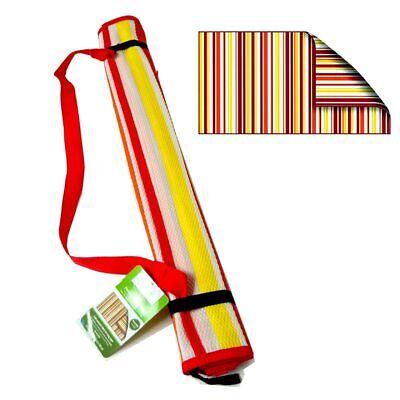 Beach Outdoor Mat RED Stripe Rug Camping Straw Sand Sandless Blanket Picnic - Beach Straw Mat