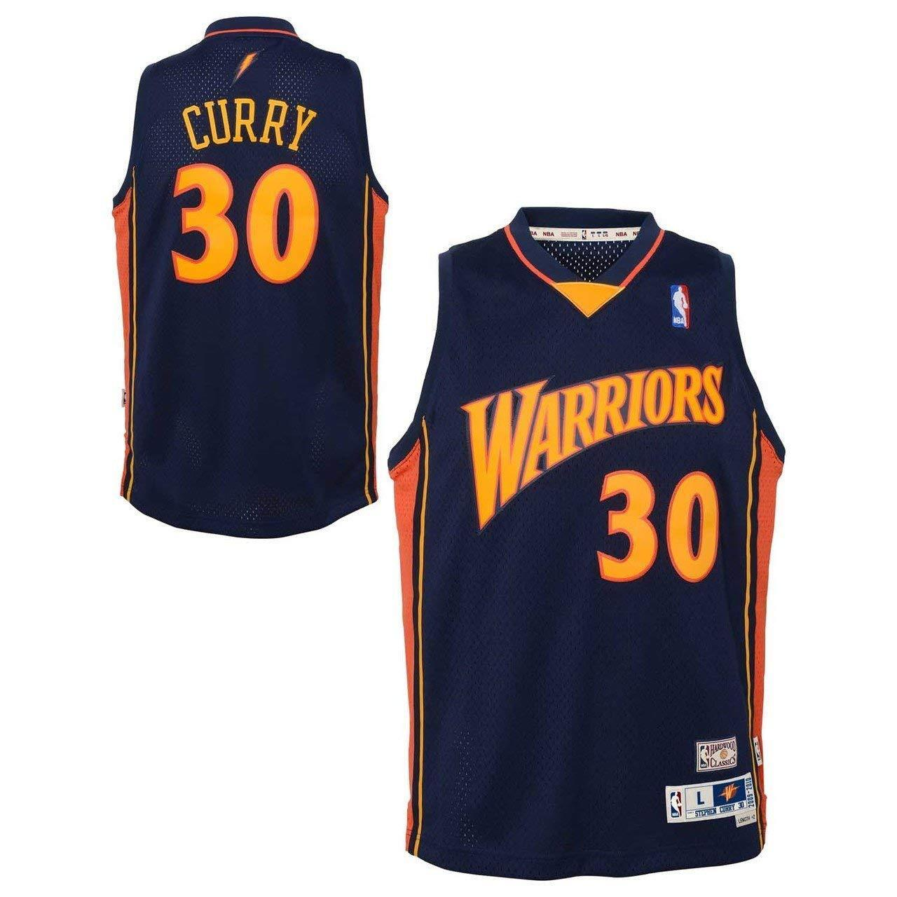 brand new 150b8 ad789 Details about Golden State Warriors Stephen Curry Youth Soul Swingman  Jersey L