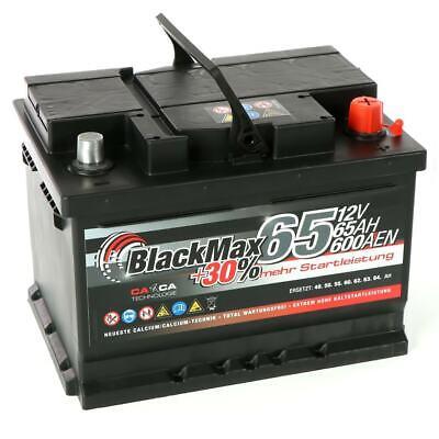 BlackMax +30 Edition Starterbatterie 12V 65Ah 600A