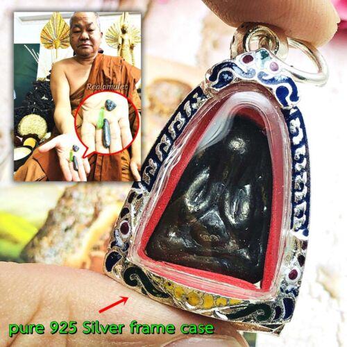 Pidta Closed Eye Thai Amulet Lp Somporn Leklai Kottipee Fortune Prevent #1633