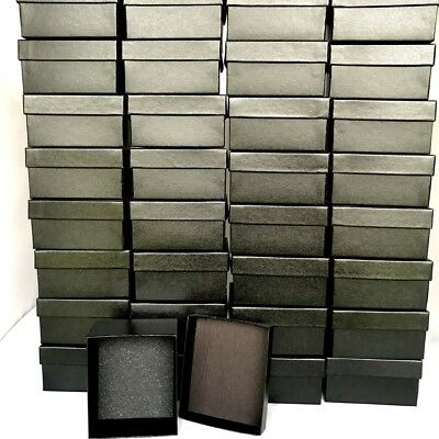 Wholesale Lot Of Black Watches Jewelry Gift Box Foam Insert 3 3/4 X 3 1/8 X 2