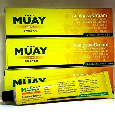 Namman muay thai boxing analgesic cream massage muscular pain relief 100g.x3