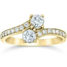 1 Carat Forever Us 2 Stone Diamond Ring 10K Yellow Gold