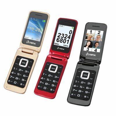 OLYMPIA Luna Senioren Mobiltelefon Handy mit großen Tasten Bluetooth  Prepaid Handy Bluetooth