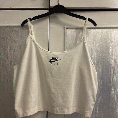 White Nike Crop Top Size L